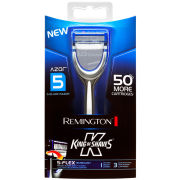 Remington King of Shaves Razor 5 Blade with 15 Replacement Cartridges