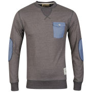 Soul Star Men's Parachute Long Sleeved Top - Charcoal