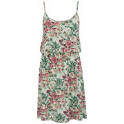 VILA Women's Floral Poet Dress - Pristine