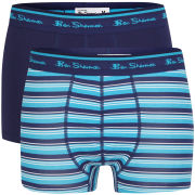 Ben Sherman Men's 2-Pack Striped Boxer - Astral Blue/Vivid Blue