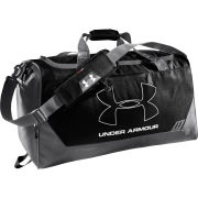 Under Armour Men's Hustle Medium Duffel Bag - Black/Graphite/Silver