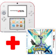 Nintendo 2DS White & Red Console: Bundle includes Pokemon X