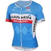 Garmin Sharp Team Replica Aero Race 5.0 Jersey - Blue/White/Red