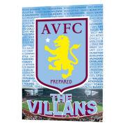 Aston Villa Crest - Lenticular Poster - 47 x 67cm