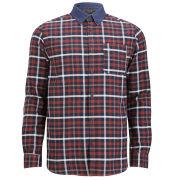 Jack & Jones Premium Men's Jason Checked Shirt - White/Navy Checked