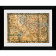 The Hobbit Map - Collector Print - 30 x 40cm