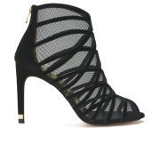 Ted Baker Women's Reannon Suede Strappy Heeled Sandals - Black