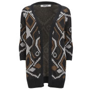 ONLY Women's Desert Long Knitted Cardigan - Black