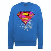 DC Comics Sweatshirt - Superman Splatter Logo - Royal Blue