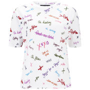House of Holland Women's Regular Print T-Shirt - Scribble