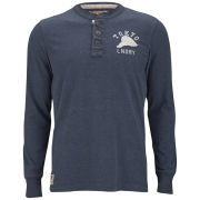 Tokyo Laundry Men's Cleveland Cove Long Sleeve Grandad Jersey - Navy Marl