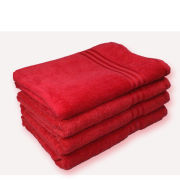 Restmor 100% Egyptian Cotton 4 Pack Bath Sheets - Red