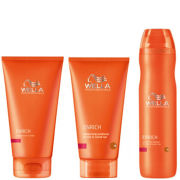 Wella Professionals Enrich Moisturising Trio for Coarse Hair- Shampoo, Conditioner & Leave in Cream