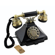 Classic GPO Duke Telephone with Push Button Dial - Black