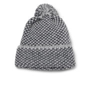 Peter Jensen Men's Diagonal Stitch Merino and Alpaca Hat - Navy/White