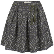 Sessun Women's Maya Printed Jacquard Mini Skirt - Arequipa