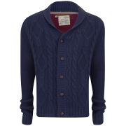 Brave Soul Men's Shawl Neck Cardigan - Azure Blue