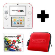 Nintendo 2DS White & Red Console: Bundle includes Mario Kart 7
