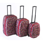 Constellation 3 Piece Luggage Set with Ditzy Floral Print Design