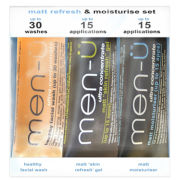 men-ü Matt Refresh and Moisturise Set (3 x 15ml)