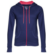 Brave Soul Women's Adrian Zip Through Contrast Hoody - Navy/Bright Pink