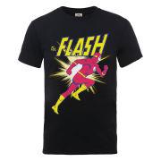 DC Comics Men's T-Shirt - Flash Running - Black