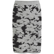 VILA Women's VILAk Knitted Pencil Skirt - Grey