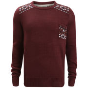 Brave Soul Men's Thomas Jumper - Bordeaux