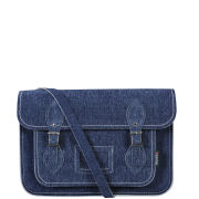 Zatchels 13 Inch Denim Satchel - Washed