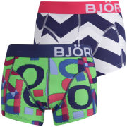 Bjorn Borg Men's 2-Pack Boxers Shredded Paper and Ziggy Print - Poision Green