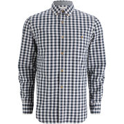 French Connection Men's Abendigo Long Sleeved Check Shirt - Blue/Cuba White