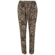 Vero Moda Women&39s Leopard Print Loose Pants  Black   XS XSBlack