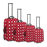 Ultimate Products 4 Piece Blyth Pink Spot Eva Luggage Set