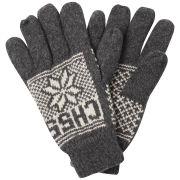 Crosshatch Men's Northstar Gloves - Charcoal/Off White