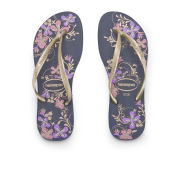 Havaianas Women's Slim Season Flip Flops - Navy/Gold