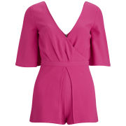 Neon Rose Women's Neon Playsuit - Pink