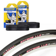 Continental Gatorskin Clincher Road Tyre Twin Pack with 2 Free Tubes - Black 700c x 23mm