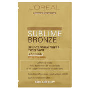 L'Oreal Paris Sublime Bronze Self Tanning wipes Twin Pack - Face and Body (2 x 5.6ml)