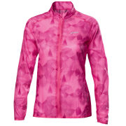 Asics Women's Feather Weight Geometric Print Jacket - Pink