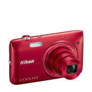 Nikon Coolpix S3500 Compact Digital Camera - Red (20.1 MP, 7x Optical Zoom 2.7 Inch LCD) - Grade A Refurb