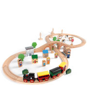 Tidlo Wooden Train Set (50 Pieces)