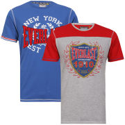 Everlast Men's 2-Pack T-Shirts - Grey/Red & Royal