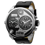 Diesel Men's Mr Daddy 57mm Leather Watch - Stainless Steel