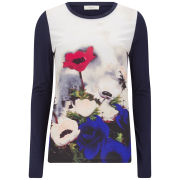 Paul by Paul Smith Women's Printed Poppy T-Shirt - Black/Multi