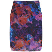 Finders Keepers Women's Starting Over Print Midi Skirt - Rose Print Dark