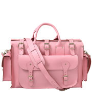 Grafea Pink Voyage Leather Holdall - Pink