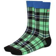 Bjorn Borg Men's Clan Check Socks - Irish Green