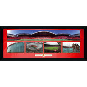 "Manchester United Old Trafford Collage - 30"""" x 12"""" Framed Photographic"