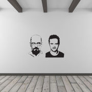 Jesse Pinkman And Heisenberg Vinyl Wall Art Decal (with Free Bansky Rat Decal)