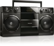 Philips OST690/10 Portable Bluetooth USB FM Radio Boombox - Black  - Grade A Refurb